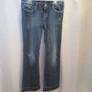 VIGOSS Collection Flare Distressed Denim Jeans